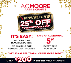 a c moore arts crafts pinwheel vip 25 off your first purchase