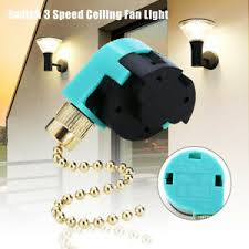 3 speed pull chain control switch for zing ear ze 268s6 ceiling fan image is loading 3 speed pull chain control switch for zing