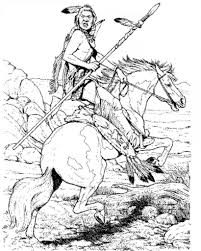 Indian Coloring Pages For Kids With Pilgrim And Indian Coloring