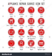 Gas Range Repair Service Appliance Repair Service Color Vector Icon Stock Vector 428310325