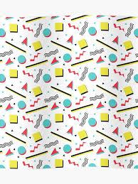 Classic Chart Patterns Poster Fun 90s Pattern Poster