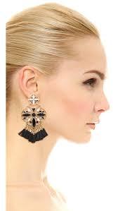 kate spade new york moroccan tile chandelier earrings black women accessories jewelry kate spade new