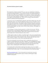 Business Proposals Samples Business Proposals Samples Letter Of