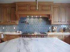 Kitchen Backsplash With Oak Cabinets And White Appliances My