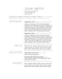 Standard Format For Resume American Resume Format Good Resume Layout American Standard Resume