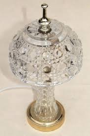 crystal glass lamp crystal glass lamp shades vintage heavy clear table vase base w 3 chandelier glass crystals lamp prisms