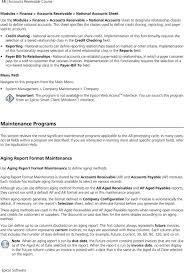 Account Receivable Aging Report Epicor 9 Accounts Receivable Course Pdf