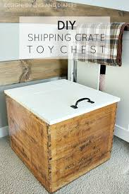 packing crate furniture. diy toy chest with lid from vintage shipping crate packing furniture a