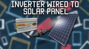 inverter wired directly to solar panel inverter wired directly to solar panel