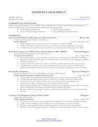 Public Health Resume Objective Public Health Resume Objective Resume For Study 11