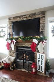 a beautiful rustic fireplace mantel for christmas love the floor to ceiling brick and all of natural decorations fireplaces r40 rustic