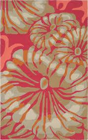 plushrugs imports downpour 2621 iar 8 x10 hot pink burnt orange rug