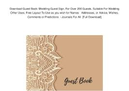 photo guest sign in book download guest book wedding guest sign for over 200 guests suitabl