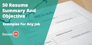 How To Write A Modern Resume Mission Statement Resume Objectives And Summary Examples 50 Ideas