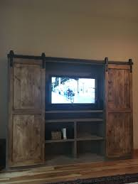 ana white barn door entertainment center diy projects tv storage white barn