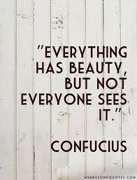 Everything Has Beauty Quotes Best Of Confucius Quote About Beauty Awesome Quotes About Life