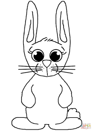Cute Bunny Coloring Page Free Printable Coloring Pages Coloring