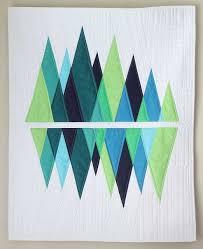The 25+ best Modern quilting ideas on Pinterest | Modern quilt ... & Mini-Wavelength mountain quilt for mum? Adamdwight.com
