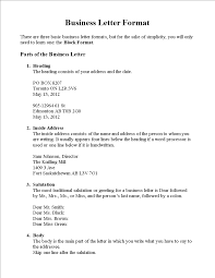 Basic Business Letters Basic Business Letter Format Templates At