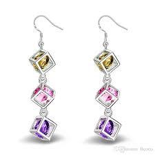 925 sterling sliver earrings swarovski amethyst crystal earring chandelier fashion earrings dangle luxury designer earring designer jewelry bohemia