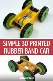 Rubber Band Car Designs Designing A Simple 3d Printed Rubber Band Car Using Autodesk