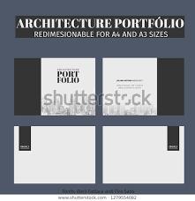 Cover Page For Portfolio Architecture Portfolio Cover Page Models Gray Stock Vector