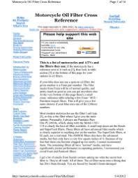 Harley Davidson Oil Filter Chart Harley Fork Oil