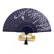 hand fan metal. oulii women hand fan held fans wedding party gift (butterfly sakura): amazon.co.uk: kitchen \u0026 home metal
