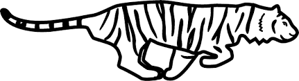 running tiger clipart black and white. To Running Tiger Clipart Black And White Panda