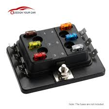 popular fuse box buy cheap fuse box lots from fuse box 6 way mini blade fuse box holder apm atm 5a 10a 25a for car boat marine