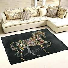 target dorm room carpets area rugs animal rug rainbow horse polyester mat for living dining sizes