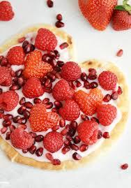 Valentine Fruit Yogurt Flatbread Pizza Heart Finding Zest