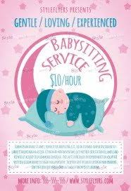 Sample Babysitting Flyer Free Babysitting Flyer Psd Templates Download Styleflyers