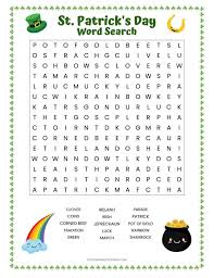 day word search free printable worksheet