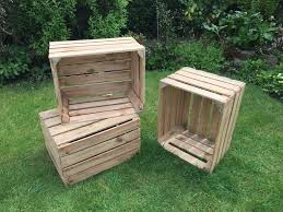 wow 3 x excellent condition rustic wooden apple crates home decor weddings