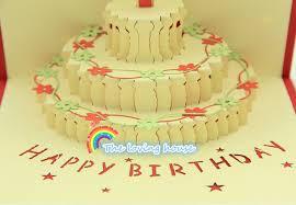 Happy Birthday Card Creative Korea Birthday Cake 3d Stereo Card On
