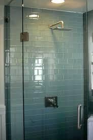 glass tile shower blue glass tile shower minimalist small bathroom with light blue glass tile small glass tile shower