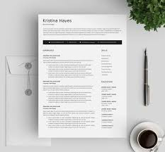 Clean Professional Resume Modern Resume Template Clean Professional Two Page Resume Template Cover Letter Cv Template For Ms Word Instant Digital Download