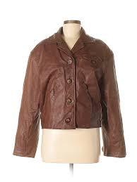 pin it pin it on comint women leather jacket size m
