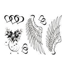199 Sexy čisté Andělská Křídla Tetování Samolepky Dočasné Tetování 1 Ks