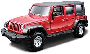 jeep wrangler unlimited rubicon 4 doors red 1 32 by bburago 18 45121