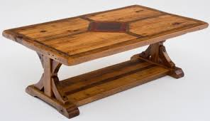 Superb Barnwood Coffee Table With Inlaid Wood U0026 Metal Design Gallery