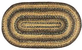 small oval jute rug cappuccino 5 x 8 ft place braided rugs