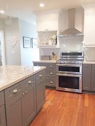 White And Gray Kitchen Cambria Quartz Berwyn Two Tone Kitchen Gray And White Kitchen