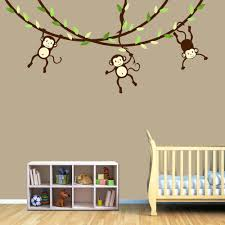 girl monkey wall decals for nursery wall decals for nursery rooms design image of monkey wall