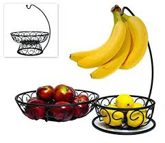 bowls fruit bowl with banana hanger 3 in 1 2 large and convenient wire baskets