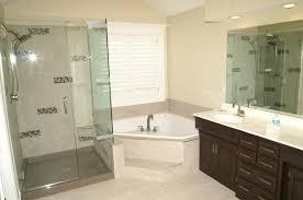 bathroom corner shower. Bathroom Decoration Using Triangle White Corner Bathtub Including Single Clear Glass Shower Door And O