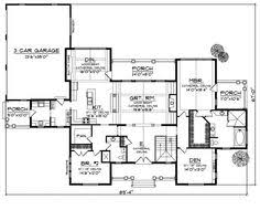 images about House plans on Pinterest   House plans  Floor    Plattsburgh Craftsman Home  Ranch House Floor PlansFloor Plans DreamOpen