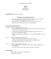 Chronological Resume With Skills Section Use Resume In A