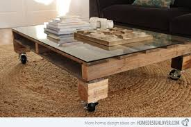 Coffee Table On Casters Plans  ThesecretconsulcomPallet Coffee Table On Wheels